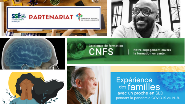 Nouveau partenariat SSF, Semaine de la santé mentale, catalogue de formation La Cité et d'autres nouvelles